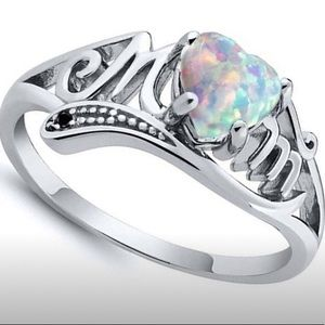 Sterling silver and opal ring for Mom